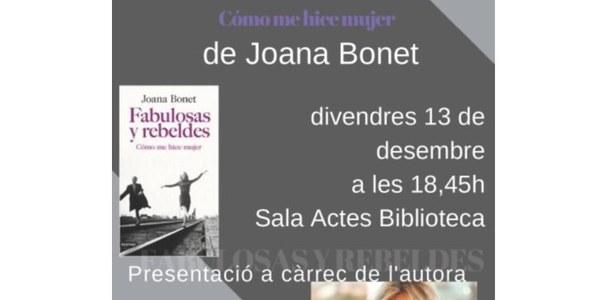 Presentació del darrer llibre de la periodista Joana Bonet