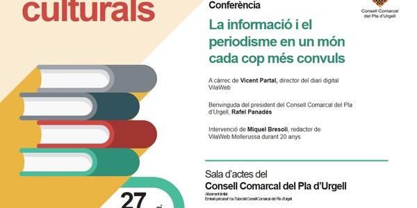 """Conferència del periodista Vicent Partal """"La informació i el periodisme en un món cada cop més convuls"""""""