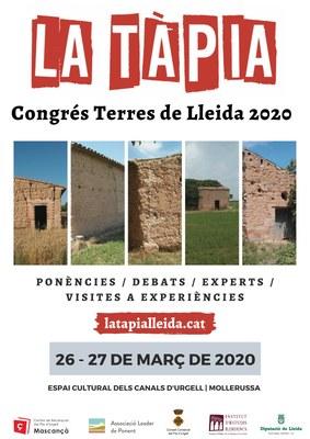 Congrés sobre la tàpia a les Terres de Lleida 2020