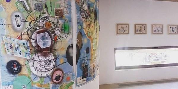 """Visita guiada de l'artista Xesco Mercé a l'exposició """"Les meravelles de l'Univers"""""""