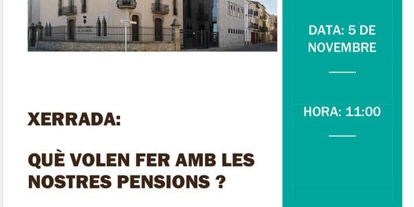 Xerrada sobre les pensions