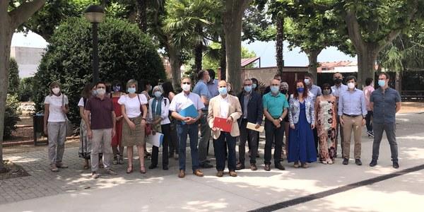 Imatge dels assitents a la constitució de la Taula de Salut Mental del Pla d'Urgell