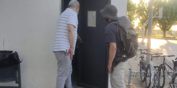 Foto d'un dels press trips facilitada per Associació Amics del Camí del Palau d'Anglesola