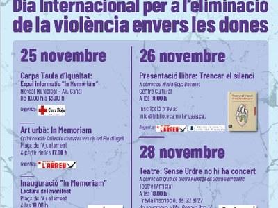 25N:Dia Internacional per a l'eliminació de la violència envers les dones