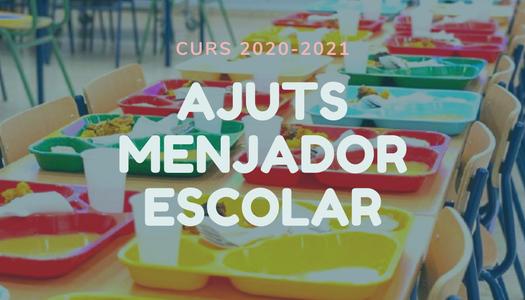 Aprovades inicialment les bases de la convocatòria d'ajuts de menjador 2020/2021