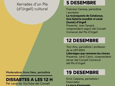Bel Olid, Francesc Canosa, Toni Aira i Enric Calpena, al primer cicle de conferències culturals sobre el Pla d'Urgell organitzat pel Consell