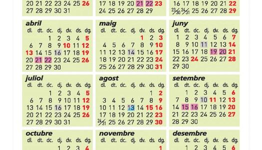 Calendari 2020 dels serveis de deixalleria mòbil i recollida de voluminosos