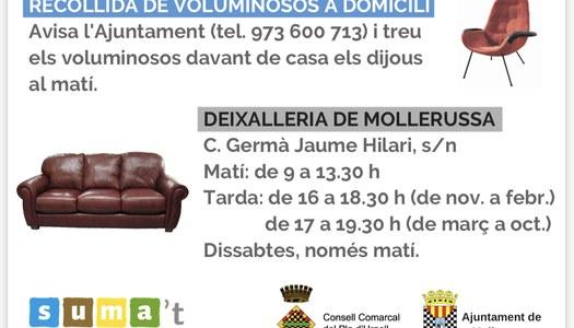 Campanya de reforç del servei de recollida de voluminosos a Mollerussa