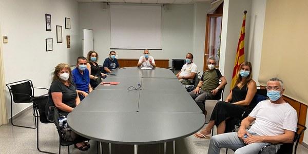 Imatge de la reunió celebrada el dia 13 de juliol al Consell Comarcal