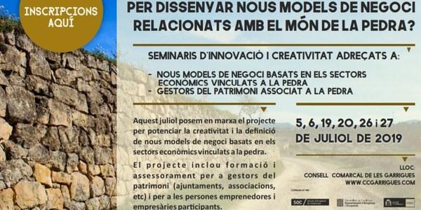 El Consell Comarcal de les Garrigues presenta els seminaris d'innovació i creativitat sobre la pedra