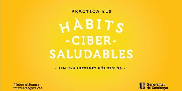 El Govern convida la ciutadania a practicar 'Hàbits cibersaludables' en la primera campanya de capacitació digital