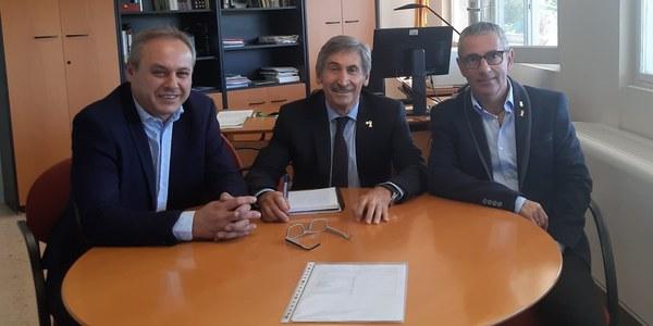 Panadés i Calvís en la reunió que van mantenir amb Alturo