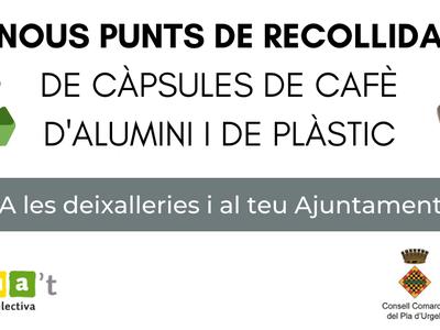 Inici de la recollida de càpsules de cafè usades al Pla d'Urgell