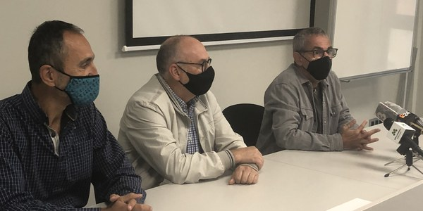 D'esquerra a dreta, Carles Esquerda; Antoni Palau; i Rafel Panadés