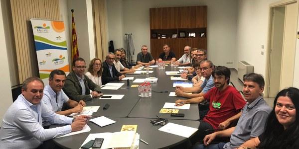 Imatge d'aquest vespre al consell comarcal del Pla d'Urgell