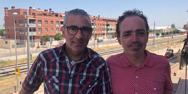 Fotografia de la visita de Francesc Canosa al Consell Comarcal del Pla d'Urgell