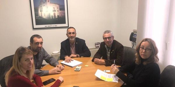 Reunió amb els responsables del servei de refugi d'animals abandonats a Mollerussa