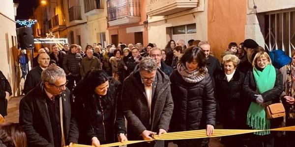 S'inaugura la millora del Carrer Nou de Vilanova de Bellpuig