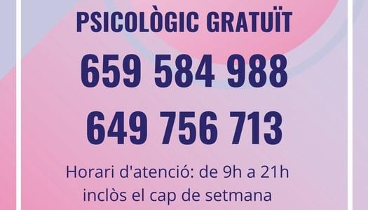 Suport del Col·legi Oficial de Psicologia de Catalunya