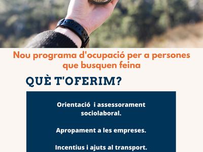 UBICAT: Nou programa d'acompanyament i suport ocupacional