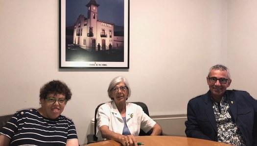 Visita de la presidenta d'ACUDAM