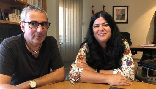 Visita de l'alcaldessa de Vilanova de Bellpuig
